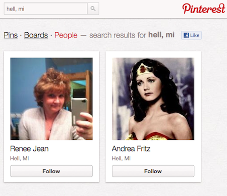 search for pinterest users by city geolocation