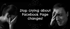 crying about 2014 facebook page changes fb link
